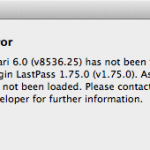 OS X Mountain Lion Safari6.0でLastPassエラーの解決